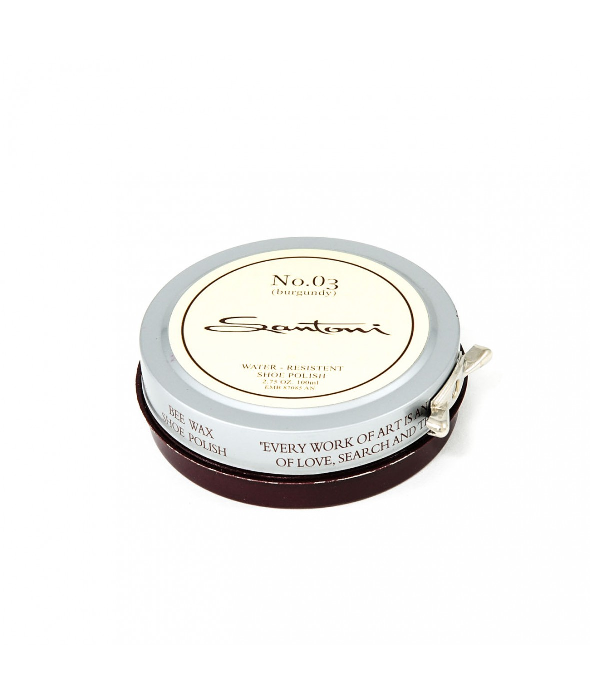 Santoni beeswax shoe polish (burgundy)