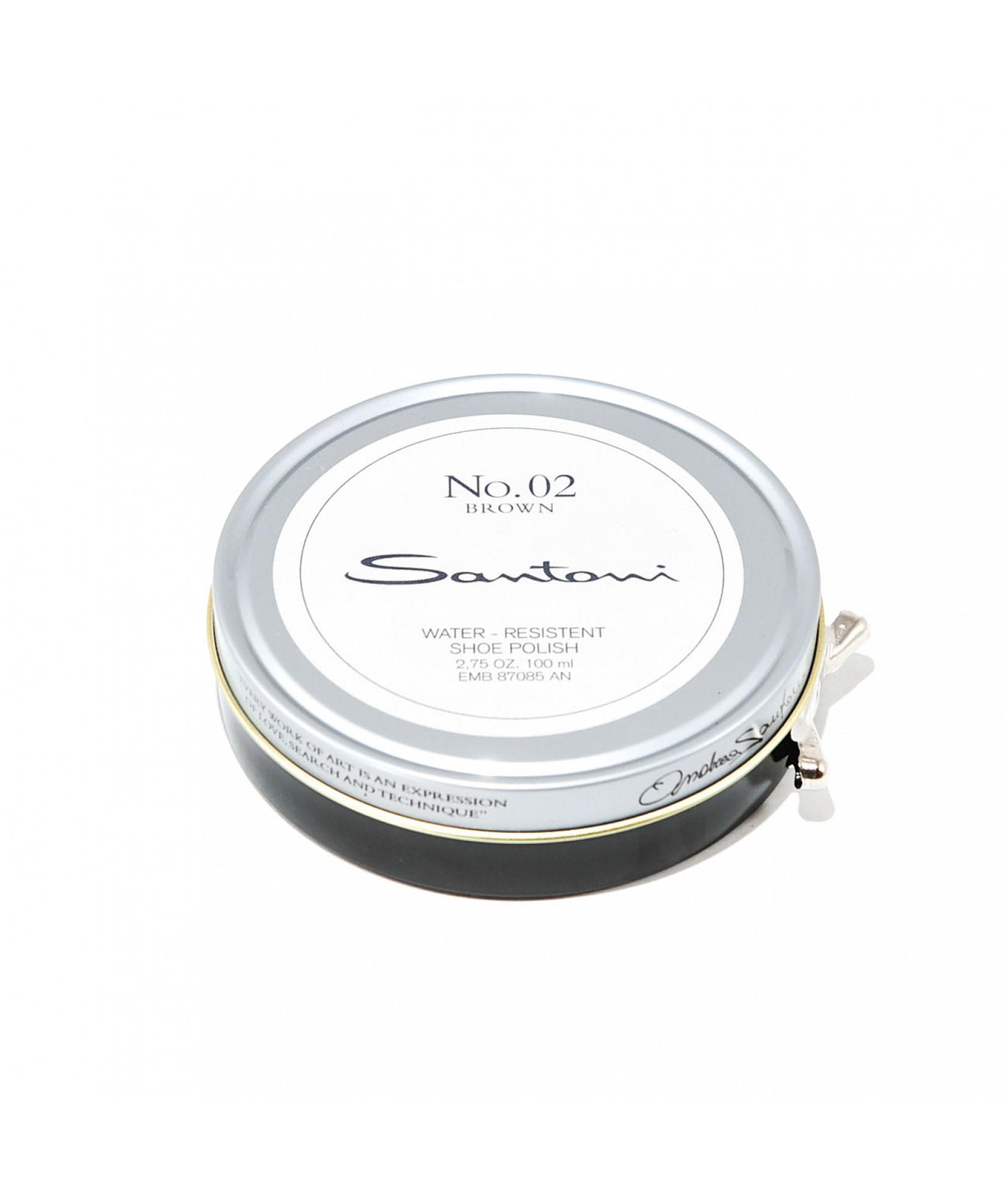 Santoni beeswax shoe polish (brown)