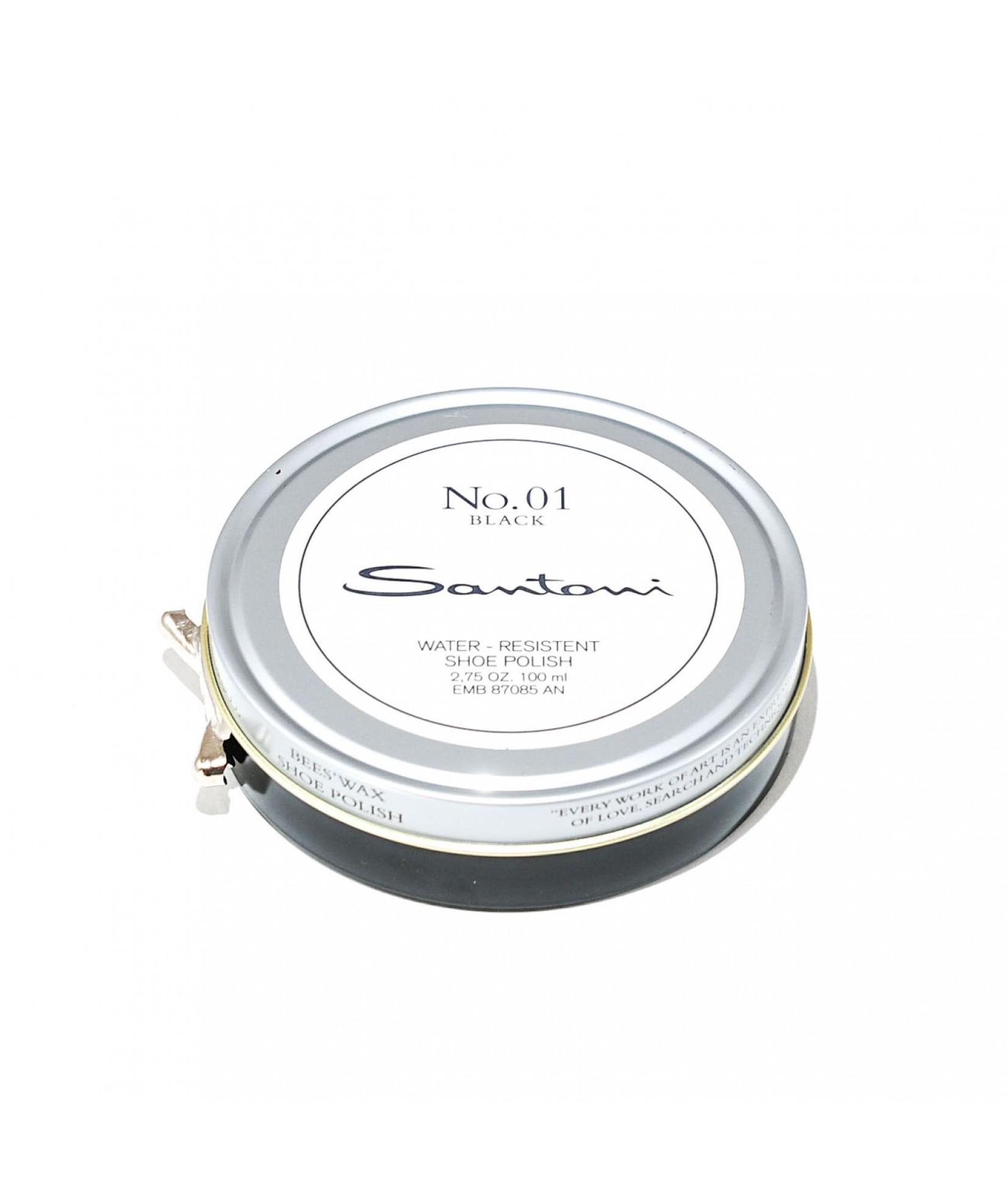 Santoni beeswax shoe polish (black)