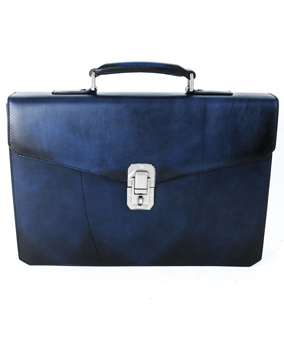 Santoni Briefcase Bag Blue U59 (28606)