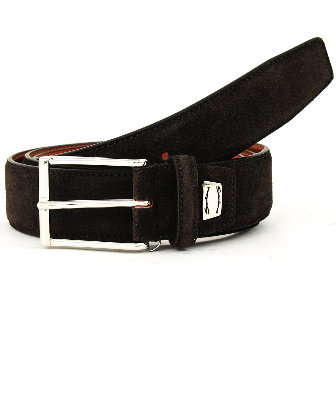 Santoni Belt Dark Brown Suede (31733)