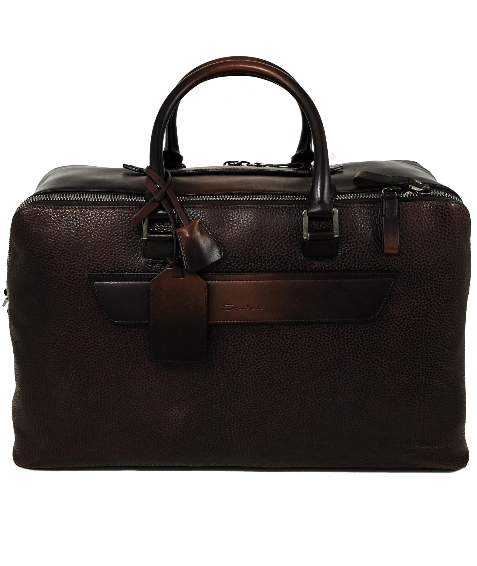 Santoni Travel Bag Dark Brown (31844)