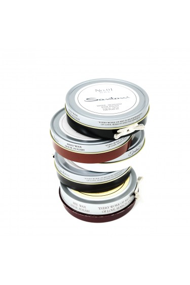 Santoni shoe polish package with five colors