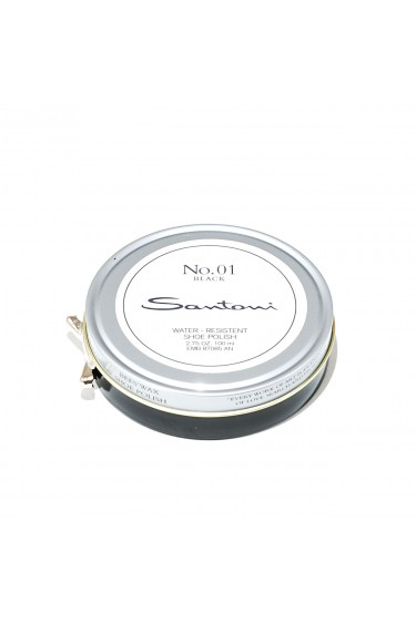 Santoni beeswax shoe polish (black)
