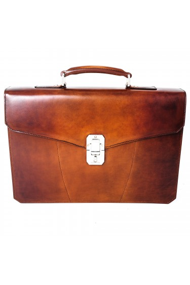 Santoni Briefcase Bag Cognac M50 (28097)