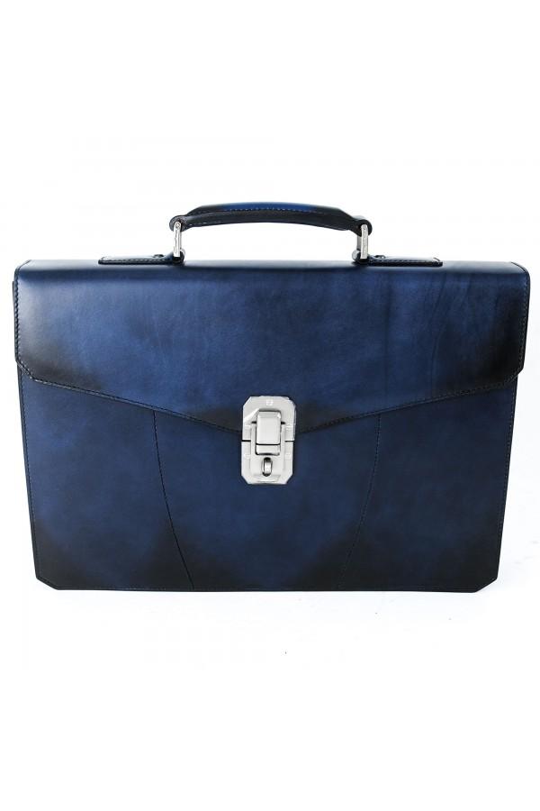 Santoni bag blue 28606