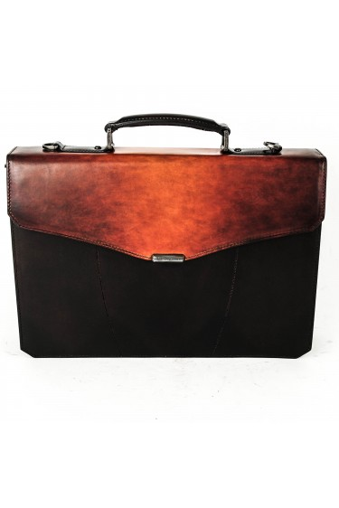 Santoni Office Bag two colours Brown / Cognac (29676)
