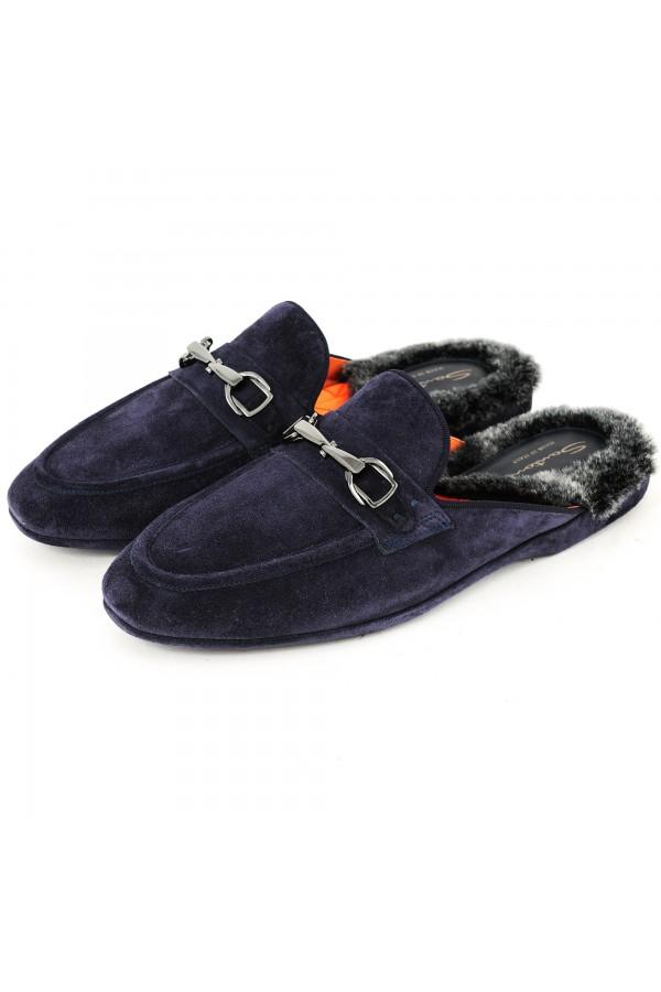 Santoni Pantofola Blauw (31677)
